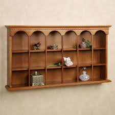 Warm Display Shelves For Collectibles Astonishing Decoration MacKenzie Wooden Wall Curio Shelf