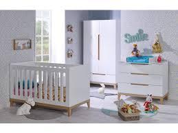 chambre bébé chambre bébé siki blanc lit commode armoire