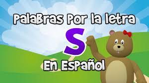 Palabras Que Comienzan Por La Letra S En Español Para Niños