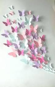 Paper Wall Decoration Butterfly Art Butterflies And