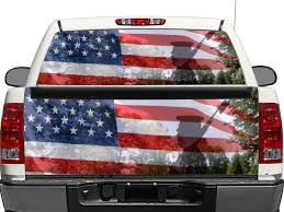 100 Truck Tailgate Decals Product US USA Americans Military Veterans Rear Window OR Tailgate