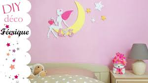 deco fee chambre fille diy tuto chambre fille magique et féerique fée lune lettres en