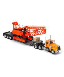 100 Toy Kenworth Trucks NewRay S W900 Lowboy Construction Crane Set