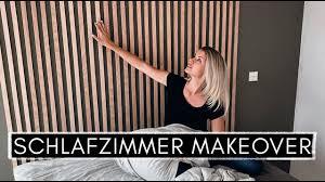 schlafzimmer makeover scandi design wandgestaltung und ikea bett hack