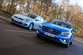 99 Eco Golf Volkswagen Bluemotion Vs Mercedes A180 CDI ECO Auto Express