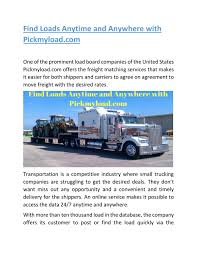 Find Loads Anytime And Anywhere With Pickmyload Com By ... Trucking Industry In The United States Wikipedia Hurricane Harvey Relief Pampg Sends Laundry Trucks To Texas Fortune Ezlinq A Smartphone App For Fleet Owners Truck Drivers Find Loads Pickup Best Of Zrate Transforming Od Load Boards Freight Marketplace Bid On Factoring Inflation Is Coming Us Economy On An 18wheel Flatbed 10 Steps Becoming Owner Operator Mile Markers How Get Access Military Freight Abnormal Vincents Haulage Real Aussie Driver Channel 40 The Way To
