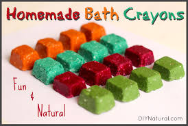homemade bath crayons for a fun and natural bath time