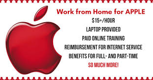 Make $15 hr Working from Home for APPLE puter Provided