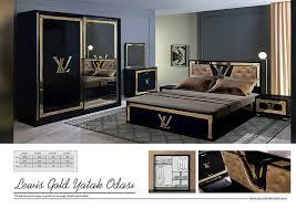 schlafzimmer im lv design mit steine und led in