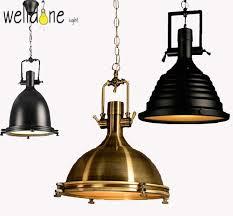 American Style Vintage Lamp RH Industrial Chrome Pendant Light Country Lamps Rustic Loft Restaurant Kitchen
