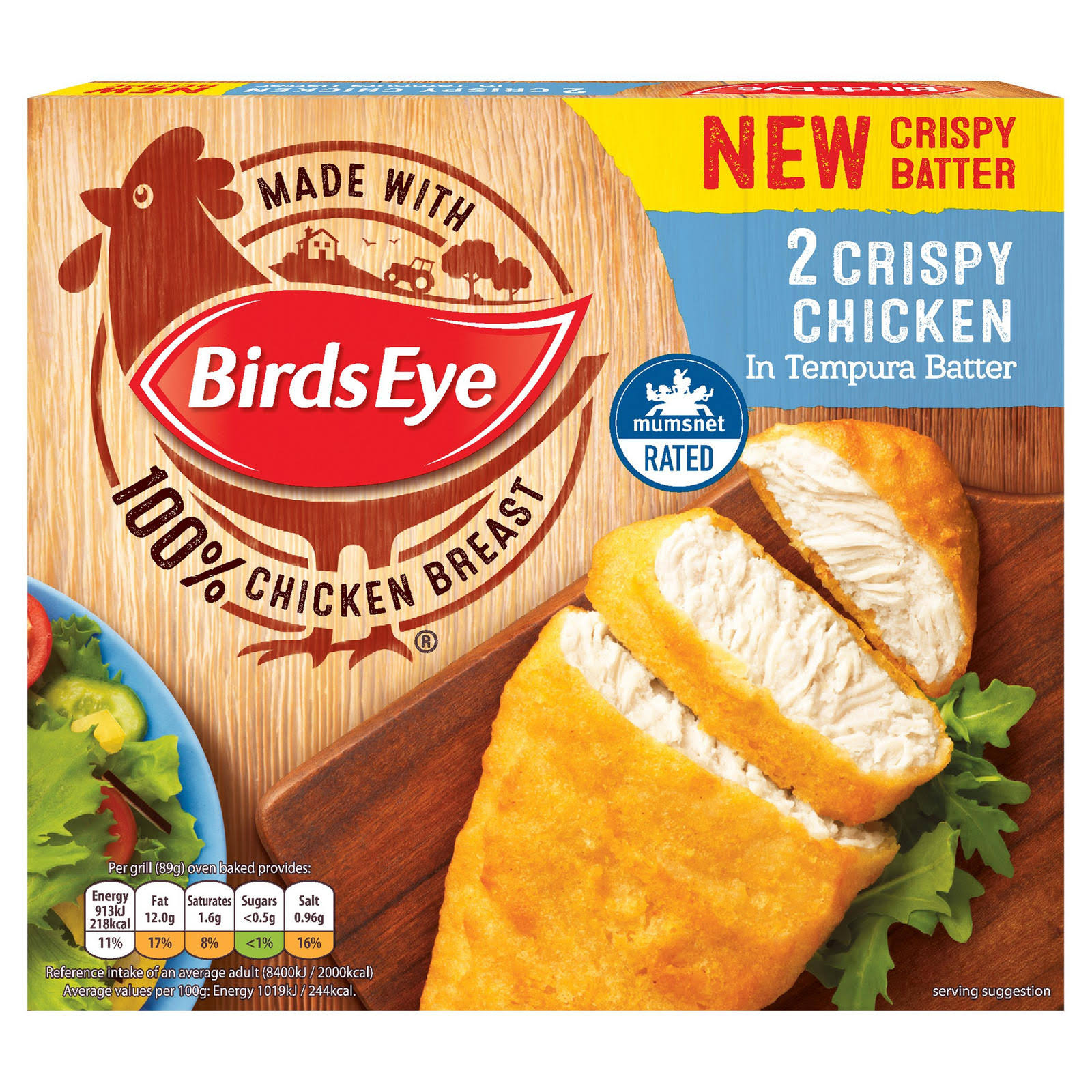 Birds Eye 2 Crispy Chicken - Tempura Batter, 170g