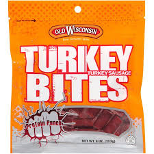 Halloween Candy Tampering Calgary by Old Wisconsin Turkey Bites Turkey Sausage Snacks 4 Oz Pouch