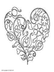 Free Printable Hearts Coloring Pages Heart