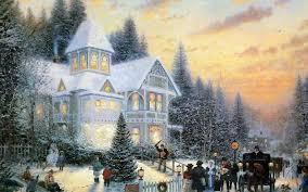 Thomas Kinkade Christmas Tree Train by Thomas Kinkade Christmas Wallpaper 2017 Grasscloth Wallpaper