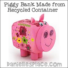 Piggy Bank Made From Recycled Plastic Container Craft For Kids
