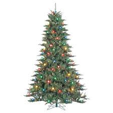 65ft Pre Lit Flocked White Artificial Christmas Tree Full Pine With