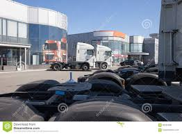 100 White Trucks For Sale Trucks Stand In Line Editorial Stock Photo Image Of