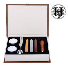 Amazoncom Stamp Seal Sealing Wax Classic Wooden Letter H Alphabet
