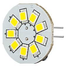 g4 led bulb 9 smd led bi pin led disc 130 lumens boat rv