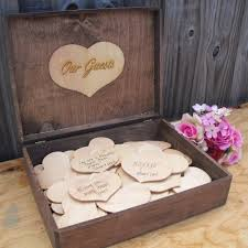 Guest Book Rustic Wedding Wood Personalized Engraved Item 1444