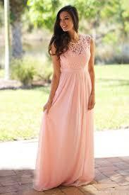 cheap elegant lace coral bridesmaid dresses jewel sleeveless