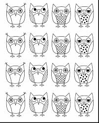 Magnificent Printable Owl Coloring Page With Pages Of Owls And For
