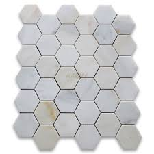 Marble Hexagon Floor Tile Amazon by Calacatta Gold 2 Inch Hexagon Mosaic Tile Honed Marble From
