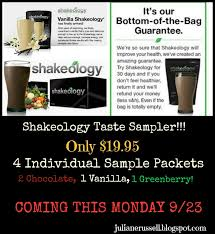 Coming THIS Monday September 23rd 2013 You Will Now Be Able To Purchase This Sample Package With 4 Packets Of Shakeology