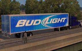 100 Bud Light Truck Trailer Skin ATS Mods American Truck Simulator Mods