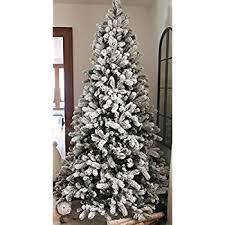6 Ft Flocked Christmas Tree Uk by Amazon Com Perfect Holiday Christmas Tree 6 Feet Flocked Snow