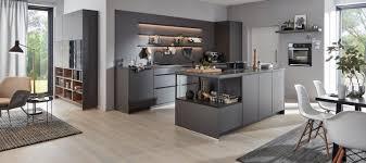 moderne küche in schiefergrau supermatt küche wohnraum