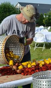 Crawfish Boil Table Decorations by The Tables All Set For The Low Country Boil Birthday Party There