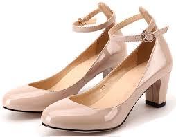 littleboutique new fashion round toe pumps ankle strap dress low