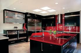 Black And Red Kitchen Designs Inspiring Exemplary Fashionable Design Ideas Amazing Wonderful