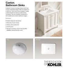 kohler caxton vitreous china undermount bathroom sink in white
