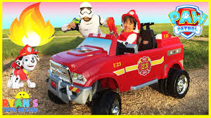 FIRE TRUCK FOR KIDS POWER WHEELS RIDE ON - YouTube