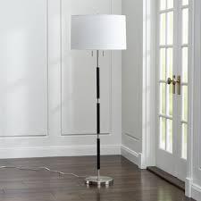 Dexter Floor Lamp Crate And Barrel by Owen Nickel Floor Lamp With Black Leather Crate And Barrel