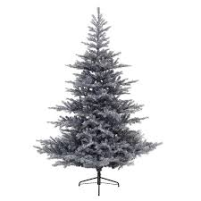 Snowy Dunhill Christmas Trees by Kaemingk Everlands Snowy Grandis Fir Pre Lit Christmas Tree 7ft