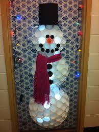 Funny Christmas Office Door Decorating Ideas by Christmas Snowman Dorm Door Decoration Feeling Creative
