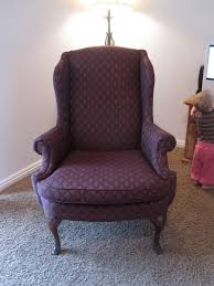 Furniture: How To Reupholster A Wingback Chair With Maroon Color ... Ding Room Stunning Brown Leather Cushion Seat And Gorgeous Couches Reupholster Couches Cost How To Upholster A Chair Fniture Wingback With Maroon Color To Reupholster A Wingback Chair Diy Projectaholic Modest Maven Vintage Blossom Determine Wther You Should Or Buy New Enchanting Chairs Photos Best Idea Home Hero 3how Much Does It Reupholstering Design And Ideas Thejotsnet Wing Pt 1 Evaluation Youtube