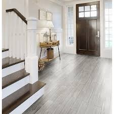 style selections eldon white wood look porcelain floor tile
