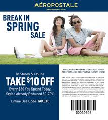 Aeropostale Coupons - $10 Off $50 At Aeropostale, Or Online ... Freshpair Promo Code Eyeko Codes Walmart Discount City Store Wss Coupons With Barcode Dc Books Coupon Interval Intertional Membership Coupon Rosenberry Rooms Amazon Discounts A4c Promotional Coupons For Indy Blackhorse Com 15 Off 75 Pinned December 26th 10 25 At Jcpenney Via Garage Com Code Aropostale Buy Online Pickup In Store Time The Final Day For Extra 30 Off Exclusive Friends And Family Drivers Ed Direct Mecca Bingo Hall Vouchers