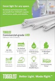 toggled 20w equivalent 24in 11w cool white 4000k t8 linear