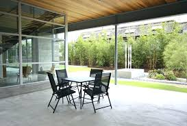 Patio Divider Bamboo Room Landscape Modern With Black Cafe Table Concrete Covered Lawn Dividers For Privacy