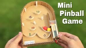 How To Make Pinball Machine At Home Using Cardboard
