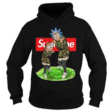 Official Supreme Rick And Morty Hoodie Real Design