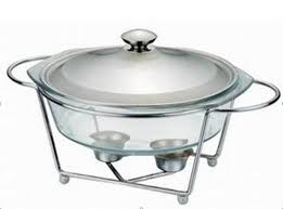 30L Glass Buffet Dish Chafing Pot Food Warmer Pyrex Arcuisine Aceno