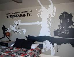 Boys Room Sports Graffiti Teen Bedrooms Ideas Bedroom