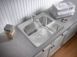 Stainless Steel Utility Sink Canada by Blanco 401201 Essential Deep Bowl 1 Hole Utility Laundry Sink