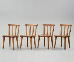 Axel Einar Hjorth, A Set Of Four Stained Pine